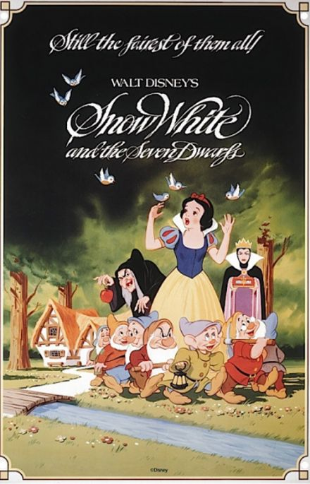 Snow White A3 Metal Wall Sign